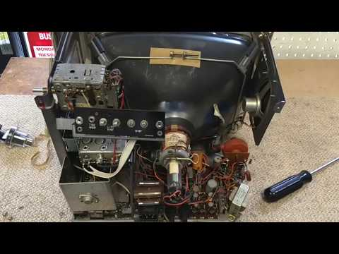 Servicing A 1970s Sears Toshiba Model 562 50260000 Black And