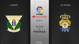 Rueda de prensa Leganés vs Las Palmas