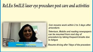 Activities | Eye Care After Relex Smile Laser Surgery