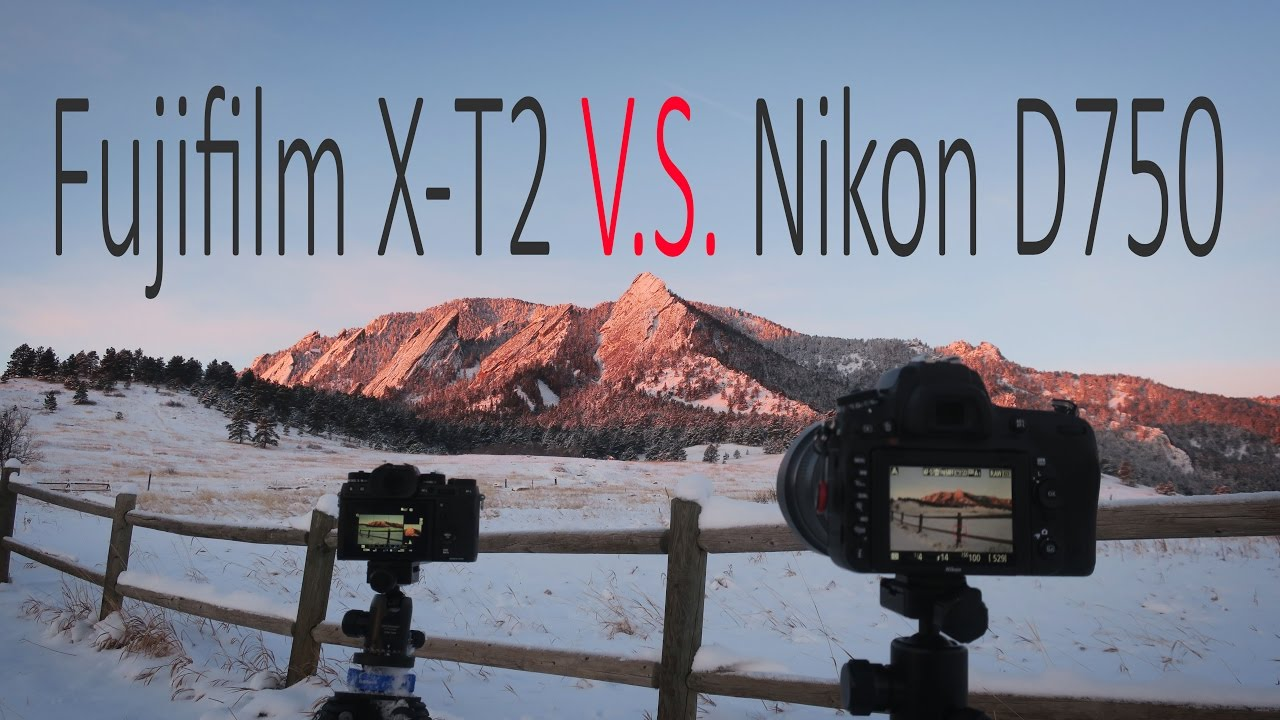 Fujifilm X-T2 vs  Nikon D750 | Compare image quality at lowest ISO for  landscape photography