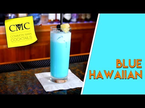 How To Make The Blue Hawaiian Cocktail | Bartending 101