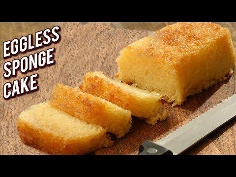 Basic Sponge Cake Recipe - Homemade Eggless Sponge Cake - Baking Recipe For Beginners - Bhumika