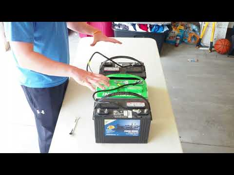 Deep Cycle 12 Volt Battery Wiring in series - 24V and 36V System