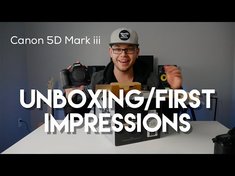 Canon 5D Mark iii Unboxing 2017!