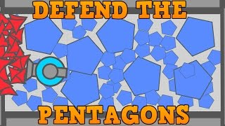 DIEP.IO MAZE MINIGAME!! // Defend The Pentagons // Biggest Pentagon Nest