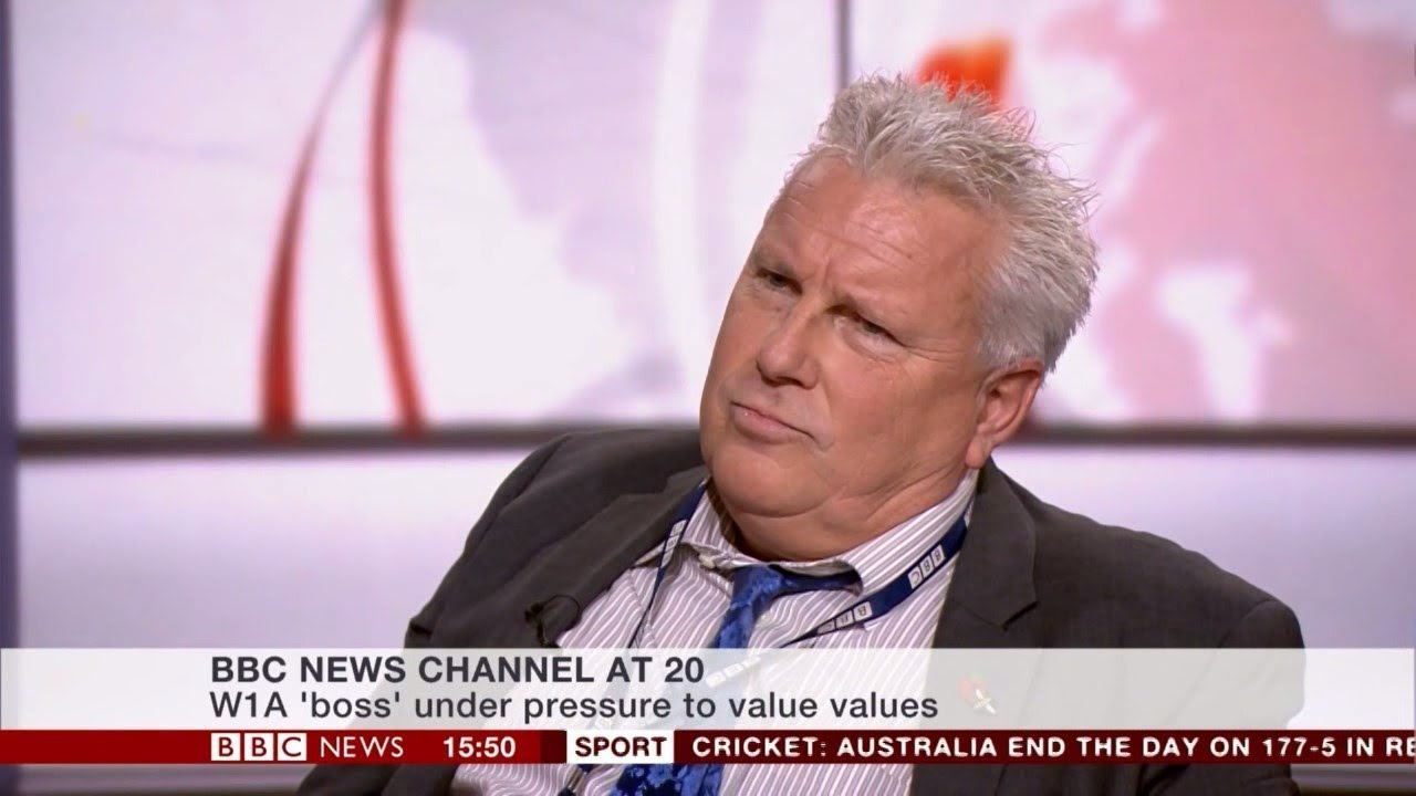 W1A's 'Neil Reid' on the BBC News channel - 1550 - 10.11