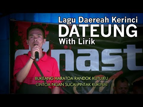 Lagu Daerah Kerinci   DATEUNG by Novan (cover)