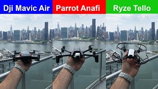 INDOOR FLIGHT Parrot Anafi vs Mavic Air vs Tello Drone First Video Comparison