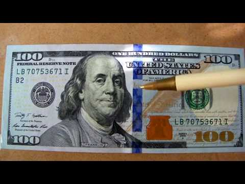 $100 Dollar Federal Reserve Note looks different