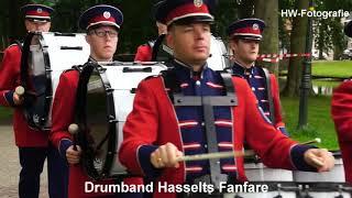 Streetparade in Hanzestad Hasselt tijdens Dweildag