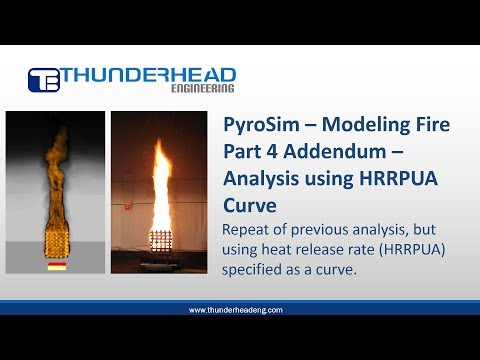 PyroSim: Modeling Fire, Part 4 Addendum -- Re-analysis Using HRRPUA Curve