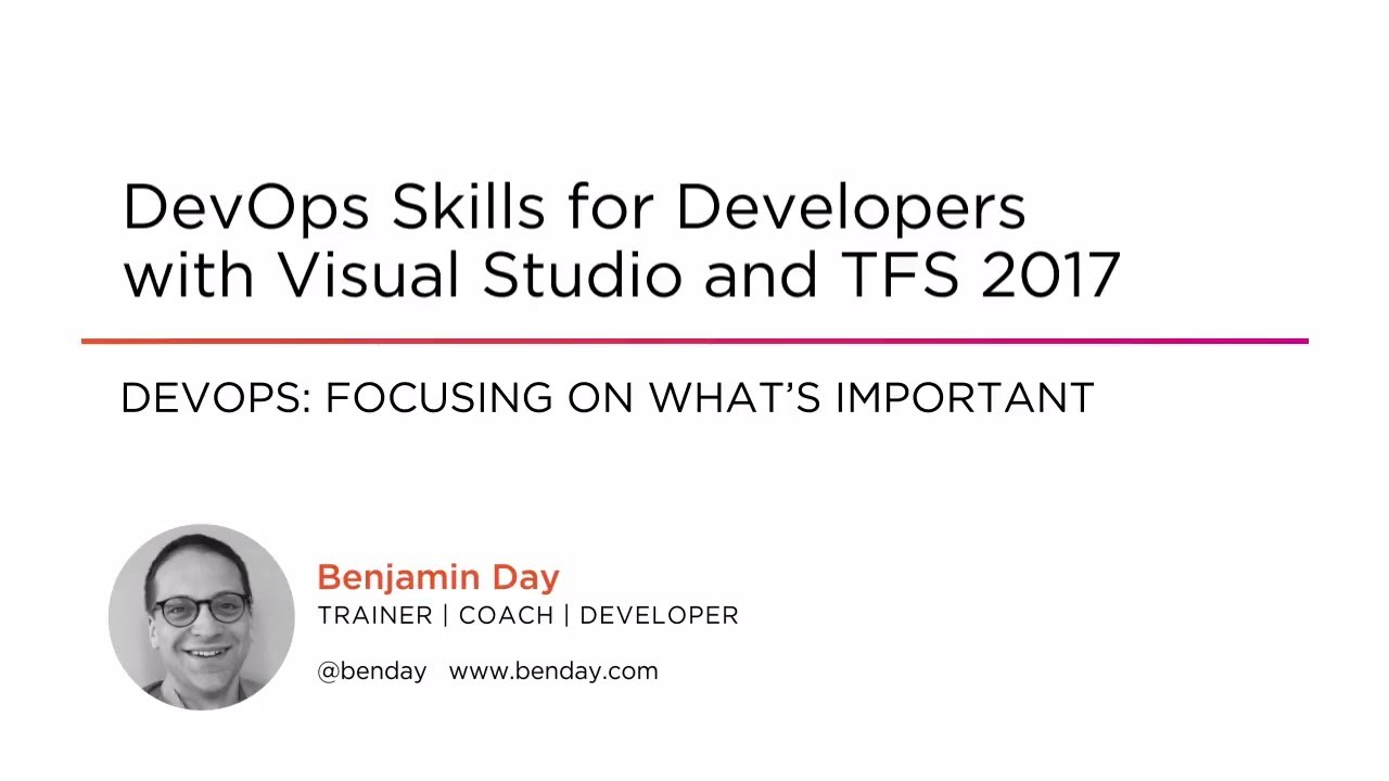 DevOps Skills Visual Studio And TFS 2017 | Pluralsight