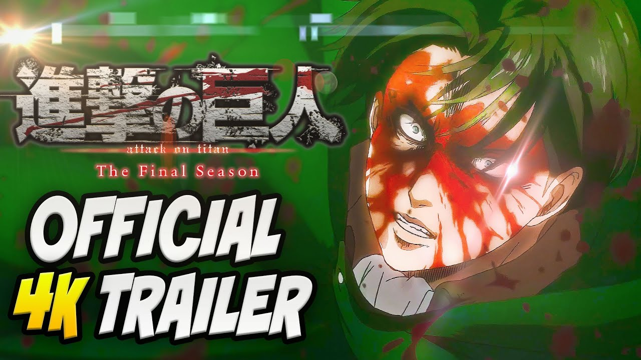 Attack On Titan Season 4 Trailer 4k English Sub Final Season É€²æ'ƒã®å·¨äºº Youtube