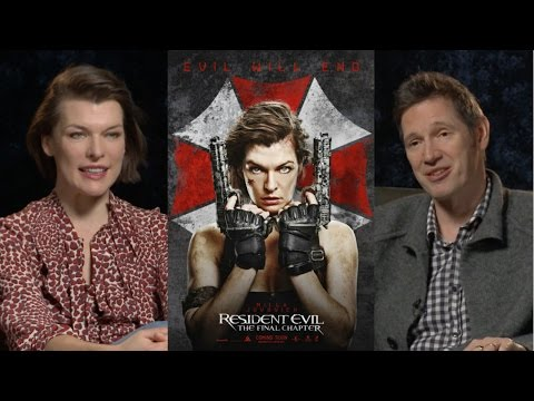 Resident Evil The Final Chapter interview Milla Jovovich and Paul Anderson