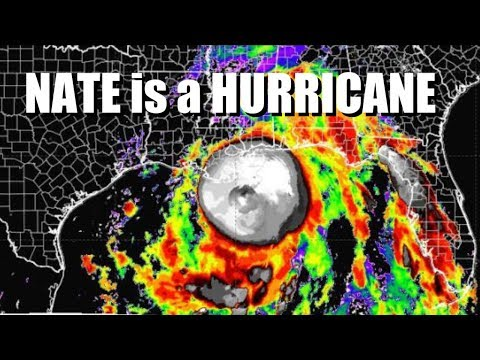 Nate is now a Hurricane & could intensify to Category 3 by Landfall