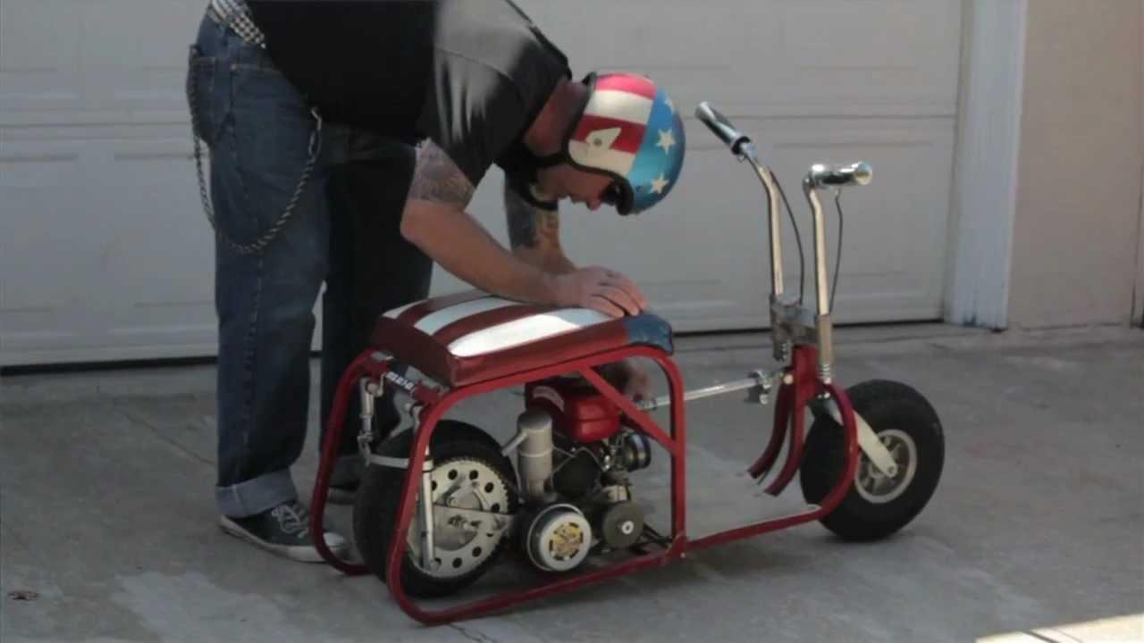 Folding Minibike 1964 Fuji Motor Go Devil Youtube
