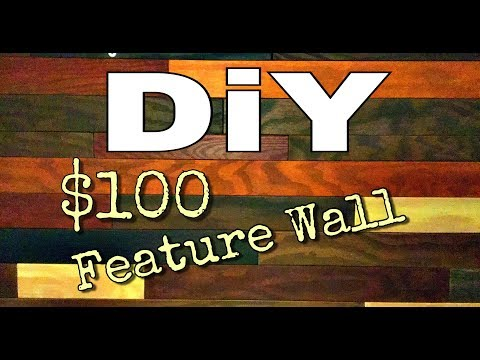 DiY WOOD Plank Wall Feature