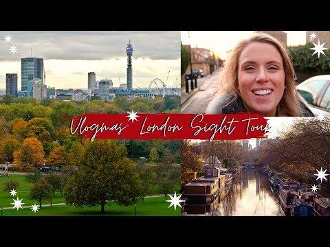 VLOGMAS 2019- Day 23- Little Venice, Primrose Hill London Christmas Tour