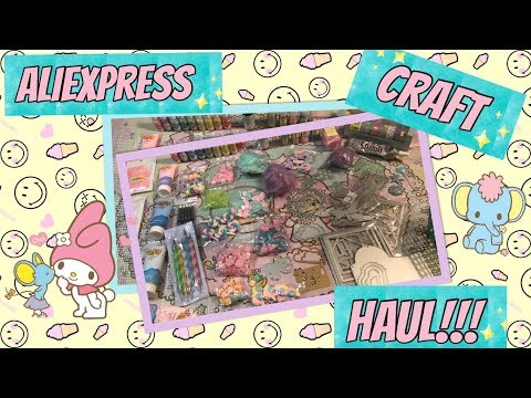 ALIEXPRESS CRAFT HAUL 2019!! CABOCHONS, DIES BEADS & MORE!!