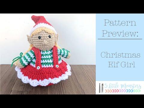 Christmas Xmas ELF GIRL - Amigurumi Pattern Crochet Doll Pattern ...   360x480