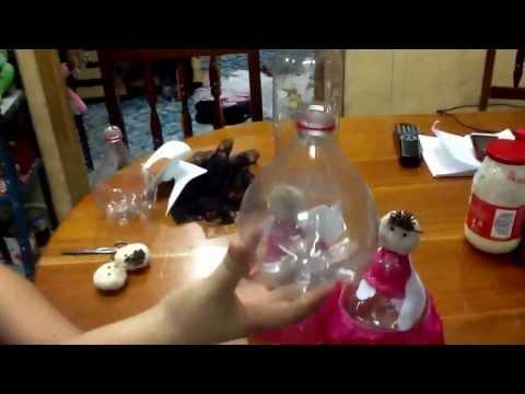 Recuerdos Reciclados Para Bautizo.Angelitos Pet Reciclados Centro De Mesa O Recuerdo Youtube