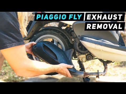 piaggio fly - exhaust removal - youtube