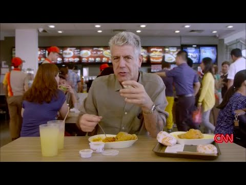 Anthony Bourdain tries Jollibee in Manila (Parts Unknown Season 7 episode 1)