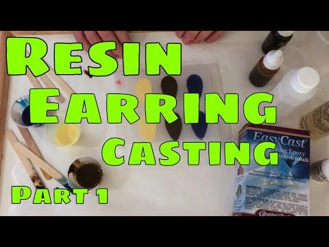 Resin Earring Casting Part 1