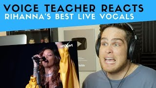 Vocal Analysis of Rihanna's Best Live Vocals (Voice Teacher Reacts)