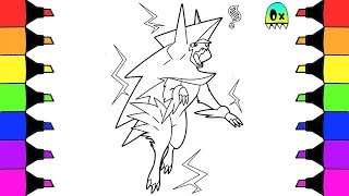 Mega Manectric Pokemon Coloring Pages I Fun Coloring Videos for Kids