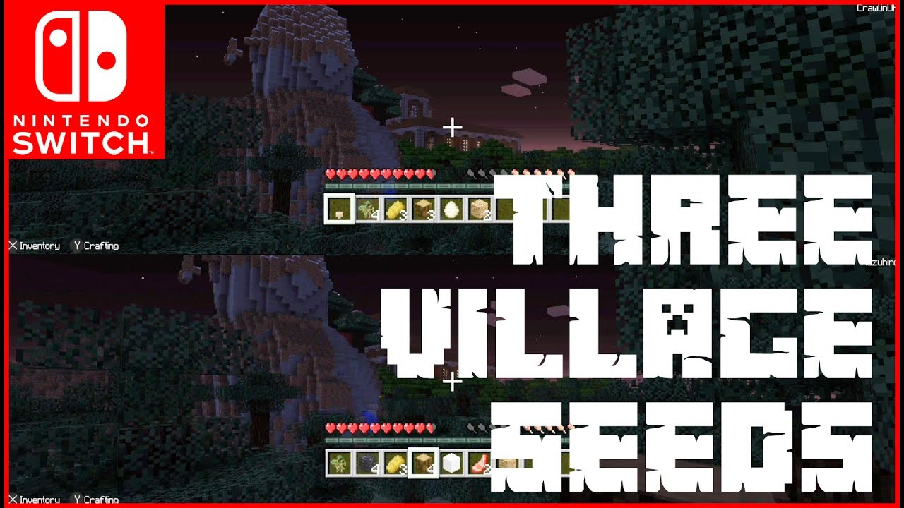 3 VILLAGE SEEDS and a WOODLAND MANSION for Minecraft on the Nintendo Switch MINECRAFT SEED village