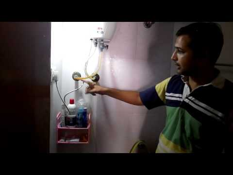 Remove water from waterheater or geyser