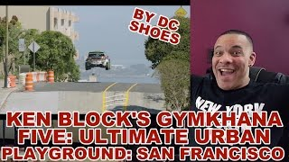 My Review of KEN BLOCK'S GYMKHANA FIVE: ULTIMATE URBAN PLAYGROUND; SAN FRANCISCO(Link to original video by DC Shoes: https://www.youtube.com/watch?v=LuDN2bCIyus I just want to thank all my current and new subscribers for the support you ..., 2015-09-27T05:08:10.000Z)