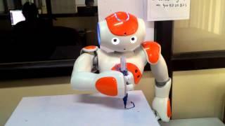 "Writing Alphabet ""B"" by Nao Humanoid Robot"