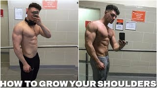 HOW TO GET BIG SHOULDERS | MY SHOULDER TRAINING ROUTINE |
