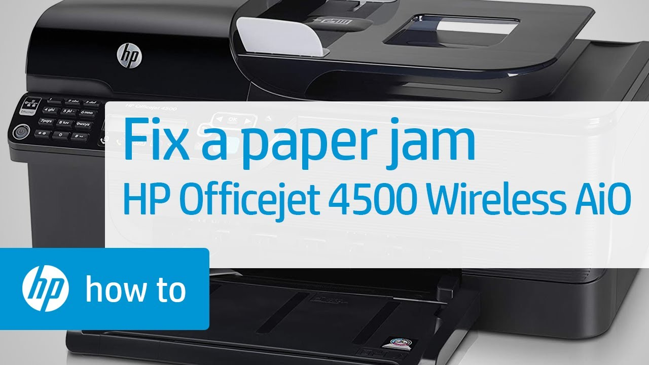 fixing a paper jam hp officejet 4500 wireless all in one g510n rh youtube com HP Officejet 4500 Print Configuration Page HP Officejet 4500 Desktop
