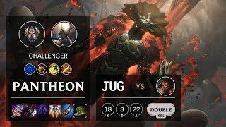 Pantheon Jungle vs Jarvan IV - EUW Challenger Patch 10.3