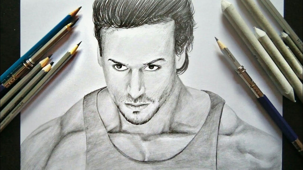 Tiger Shroff | Pencil Drawing - YouTube
