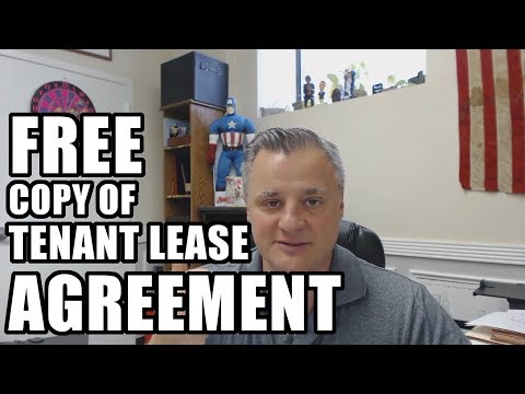 FREE Copy of Tenant Lease Agreement with Matt Faircloth - MM 070