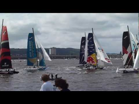 Extreme 40's Yacht Racing at Cardiff Bay