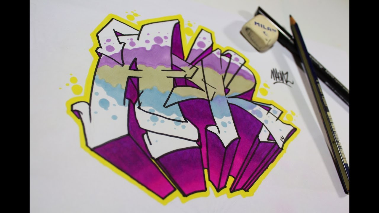 Como Hacer Letras Graffiti Fácil Y Sencillo