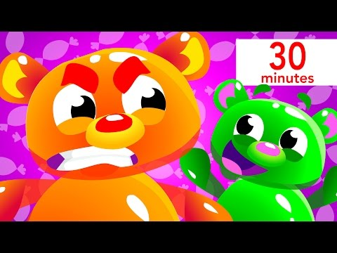 Mega Gummy Bears, Baby Shark, and more! | Kids Songs | by Little Angel