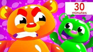 Mega Gummy Bears, Baby Shark, and more! | Kids Songs | by Little Angel