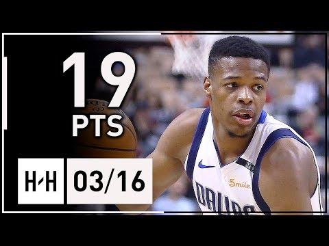 Dennis Smith Jr. Full Highlights Mavericks vs Raptors (2018.03.16) - 19 Points!
