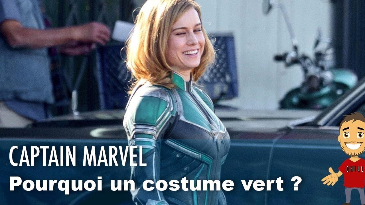 captain marvel costume vert