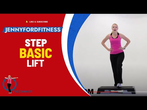 How to do a BASIC RIGHT - Step Aerobics - JENNY FORD