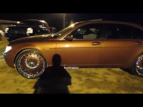Candy brown BMW on color match dub floaters