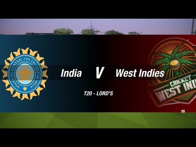 Cricket 19 India vs West Indies PS4 Gameplay T20 Match