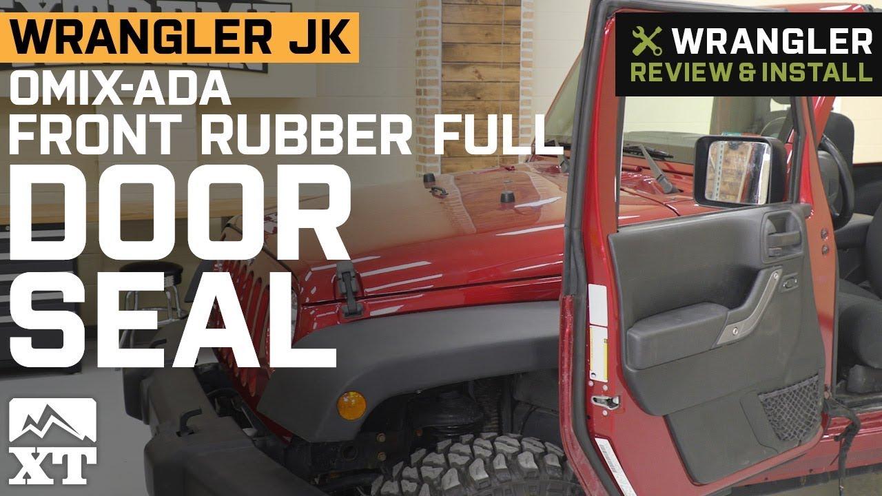 2007-2018 Jeep Wrangler JK Front Passenger Full Door Weatherstrip Mopar OEM