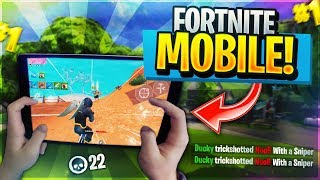 🔴 Pro Fortnite Mobile Player// 700+ Wins // Grinding Fortnite Mobile Trickshots For #FaZe5